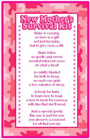 Baby Shower Gift- Survival Kit