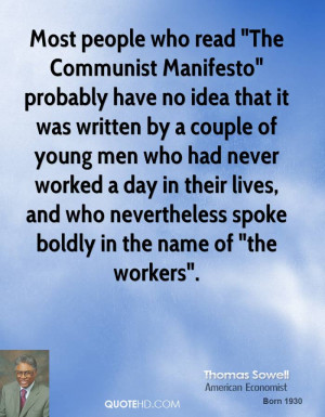 Most People Who Read The Communist Manifesto Probably Have Idea