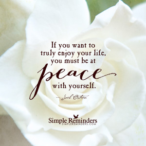 be at peace with yourself by joel osteen be at peace with yourself by ...