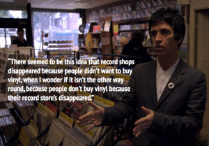 began the interview with a quote, from the film, from Johnny Marr ...