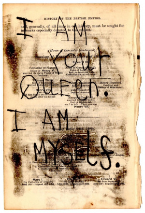 Am Your Queen... #Quote #mono print