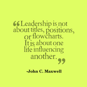 leadership is influence john c maxwell