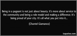 Being in a pageant is not just about beauty. It's more about ...
