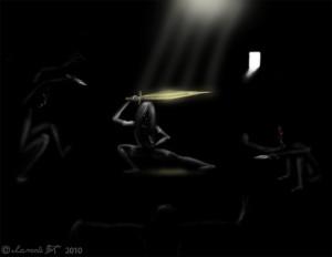 Fighting the Inner Demons by iamnie