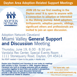 The inaugural Greater Miami Valley Adoption Support General Meeting ...