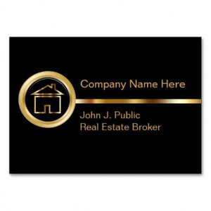 Luxury Black Gold Upscale Real Estate Business Card Quotes