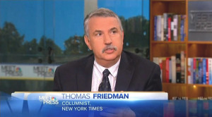 Next, New York Times columnist Thomas Friedman on April 21 thought he ...