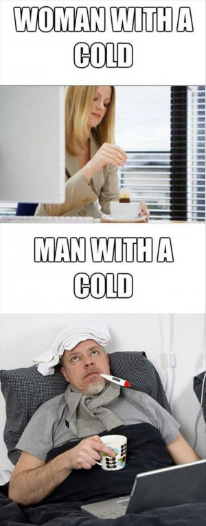 Vh Funny men vs women having a cold
