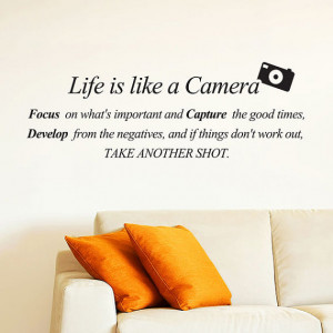 Life is like a Camera. Focus on what's important and Capture the good ...