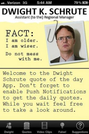 Dwight Schrute quote of the da Screenshot 4
