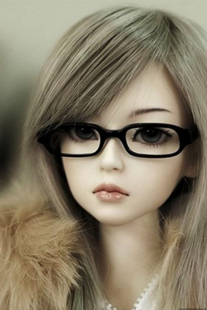 Innocent doll with spectacles