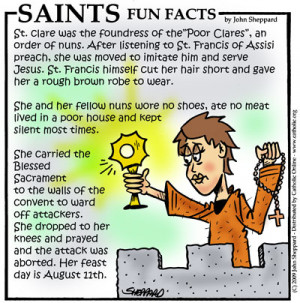 Saints Fun Facts for St. Clare