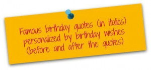My Own Birthday Quotes Sayings Birthday quotes sneak preview