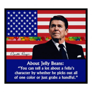Ronald Reagan on Jelly Beans Print