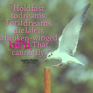 ... -hold-fast-to-dreams-for-if-dreams-die-life-is-a-broken-winged.png