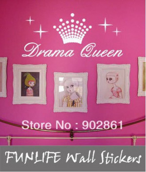 ... Drama Queen girl's Room Baby Decorative Wall Quote Wall Saying Decals