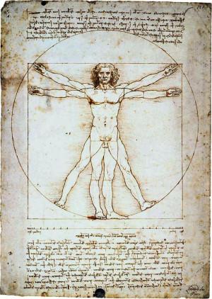 Leonardo da Vinci: Hombre de Vitruvio (Homo cuadratus)