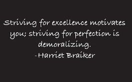 Striving for excellence quote