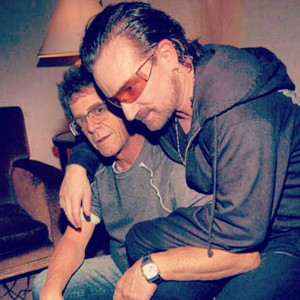 Bono and Lou Reed