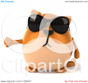 Cat Wearing Sunglasses Clip Art