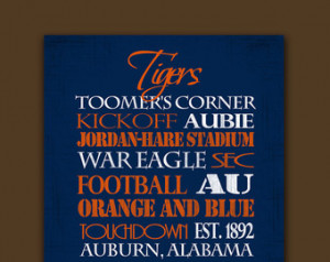 Auburn University Tigers: Ready to Hang Standout ...