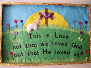Christian Sheep Bulletin Board Idea » Choosing The Right Book BBI