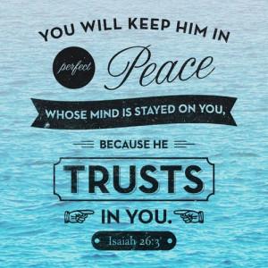 Comforting Bible Verses Isaiah 26:3
