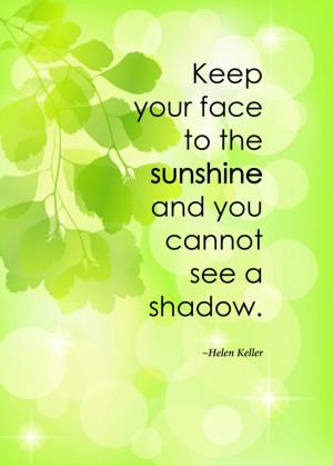 Print of quote by Helen Keller,