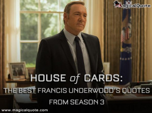 The third season of the popular series House of Cards has arrived on ...