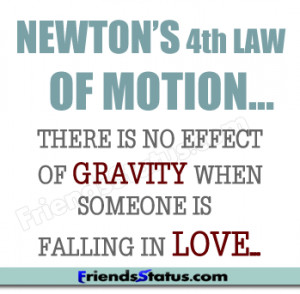 Newton's law and love