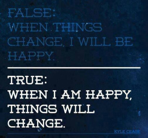 Wallpaper with Quote on Happiness by Kyle Cease: Happiness Changes ...