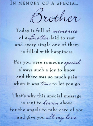 ... Brother, Miss My Brother, Memories Poems, Little Brother, Big Brother
