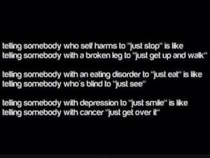 depressed sad self harm cut cutting burning hair pulling overdose