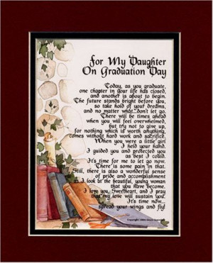 graduation gifts for daughter from mother | For My Daughter on ...
