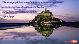 Inspirational Wallpaper Quote by Marcel Pagnol