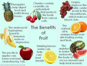 Healthy Benefits of fruits~Pictures~Inspirational Thoughts