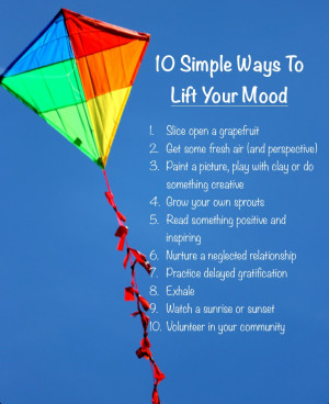 ... my full list of little things that can boost your mood for this week