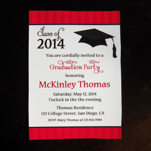 2015 High School Graduation Party Invitations