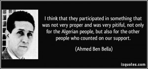 ... pitiful, not only for the Algerian people, but also for the other