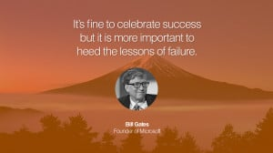 It's fine to celebrate success but it is more important to heed the ...