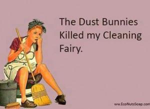 The dust bunnies