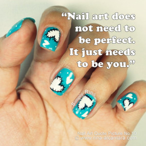 Nail art used in photo is Heart Patches