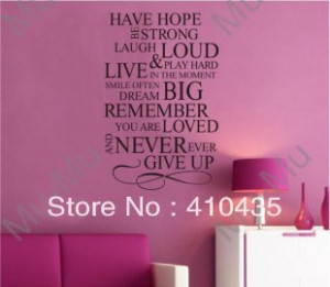 Have-Hope--Never-ever-Give-Up-Art-Vinyl-sticker-decor-Wall-Quote ...