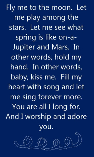 ... Frank Sinatra Lyrics, Fly Me To The Moon Lyrics, Frank Sinatra Quotes