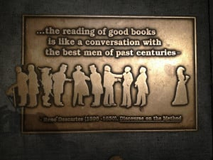 ... Like A Conversation With The Best Men Of Past Centuries - Book Quote