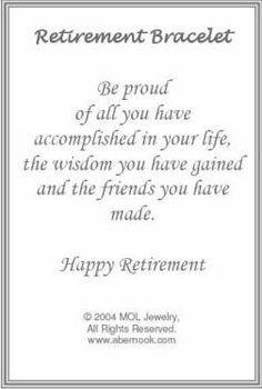 retirement bracelet quote more quotes fonts cards retirement bracelets