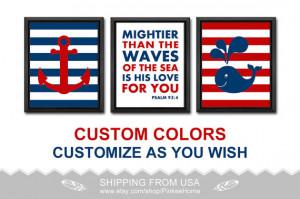 bible quotes nautical nursery poster nautical kid art nursery decor ...