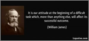 It is our attitude at the beginning of a difficult task which, more ...