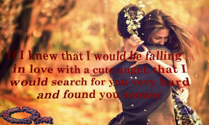If I knew that i might be falling infatuated with a cute angel ...