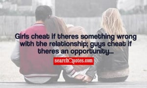Girl Quotes About Boys Cheating